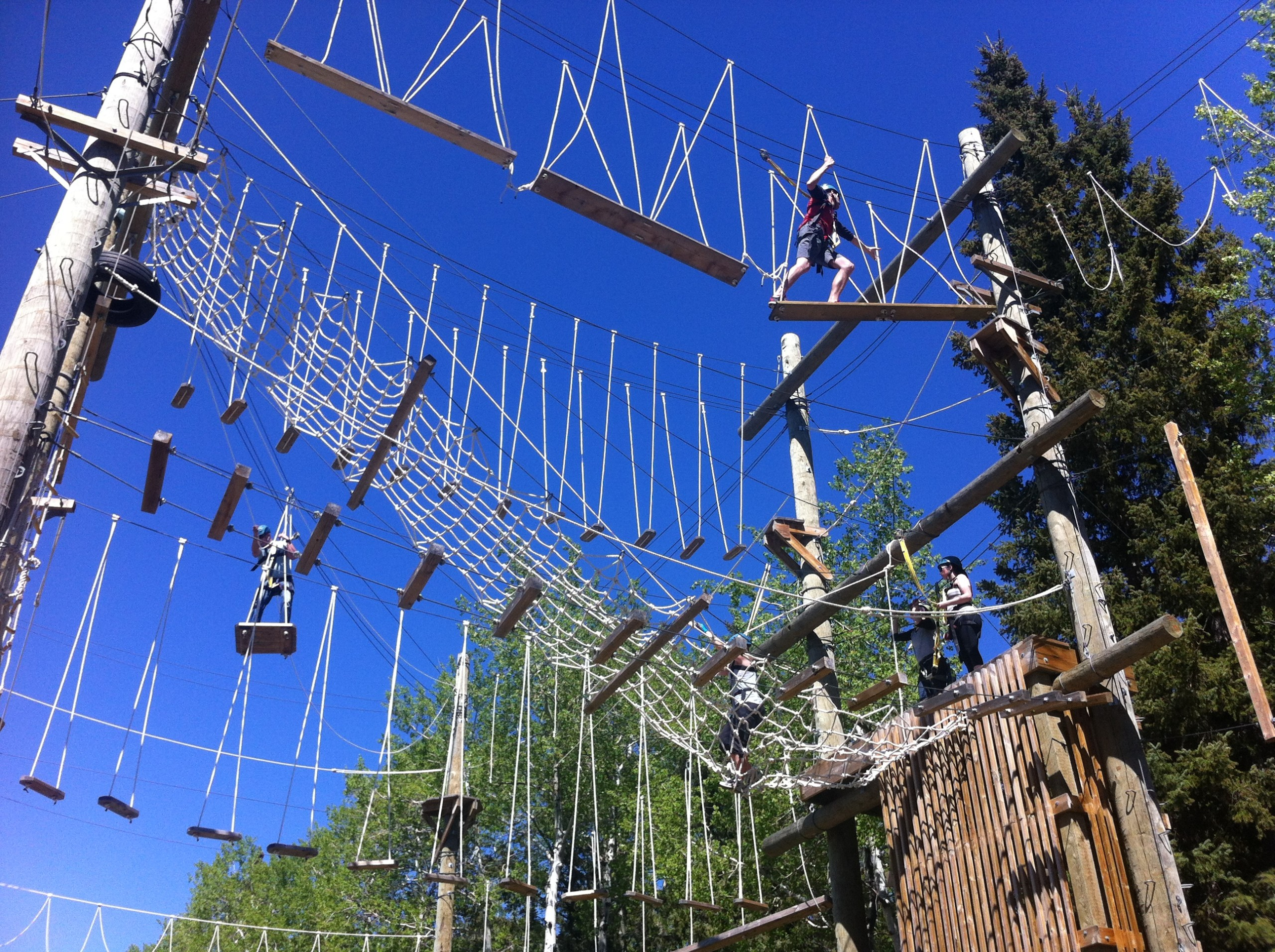 High ropes course - Red Lodge Ropes Course