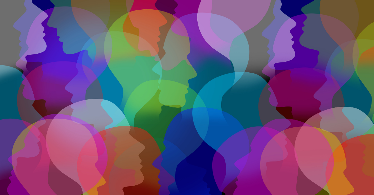colored heads depicting workplace value proposition